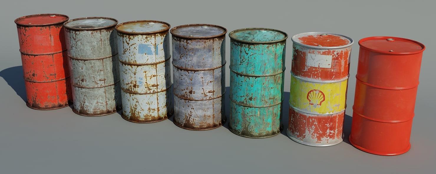 3d pack barrels