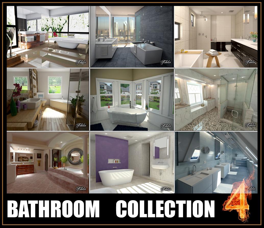 3d model bathrooms scenes