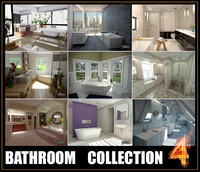 3d model bathrooms scenes
