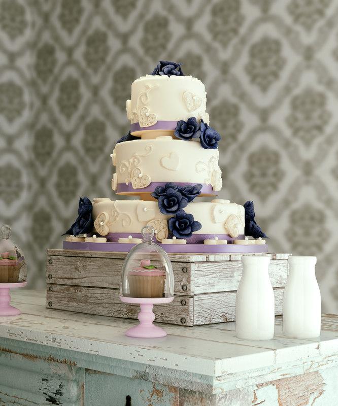 3d model wedding cake 04
