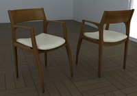 3d model chair carlos rossi