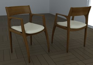 3d model chair carlos rossi