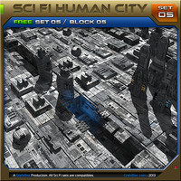 SciFi_Human City Set05