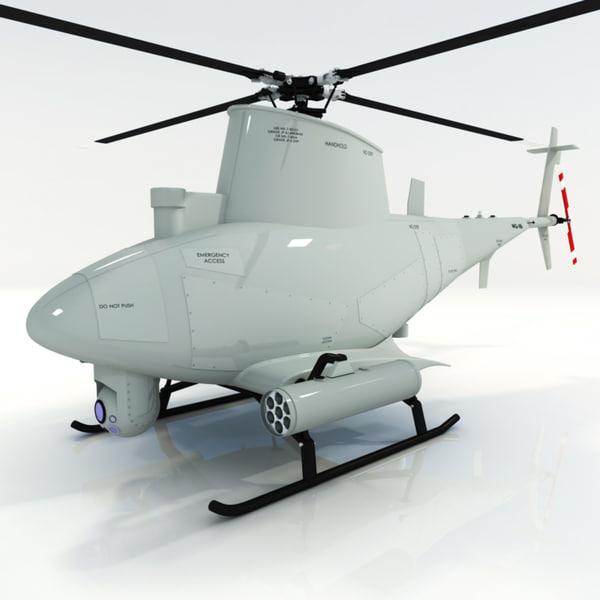 3d model mq-2b firescout drone