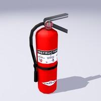 3d extinguisher unity model