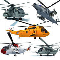3D Military Helicopter Models