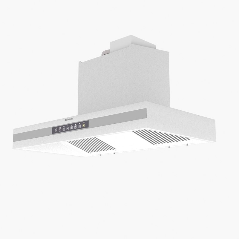 3d Kitchen Hood Model