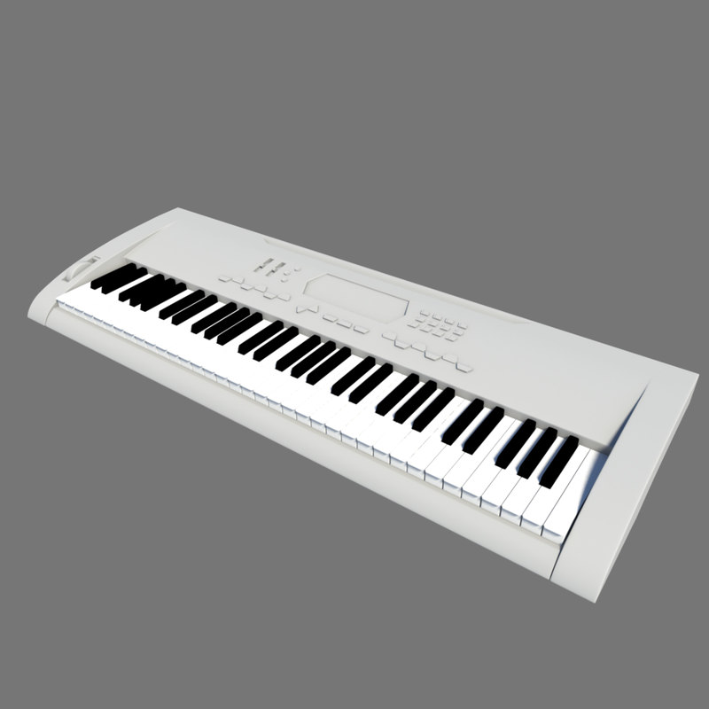 key keyboard 3d model