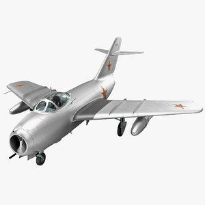 jet fighter mig 15 3d model