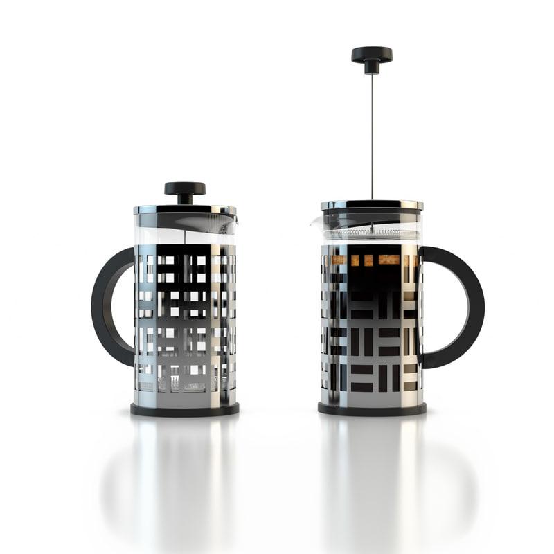 bodum coffee maker 3d model
