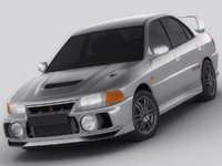 3d model of mitsubishi lancer evo