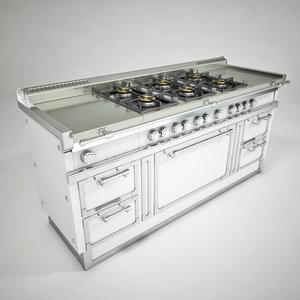 professional oven 3d model