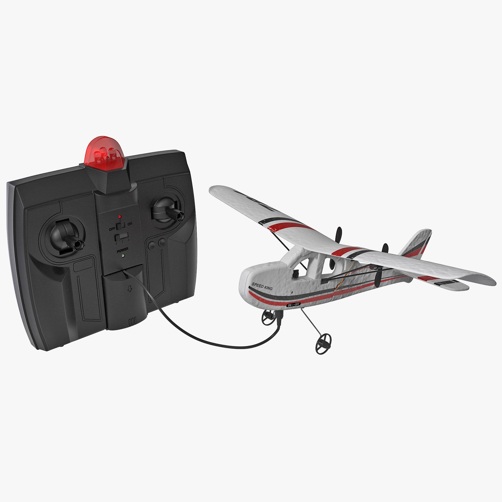 remote control airplane cessna 3d model