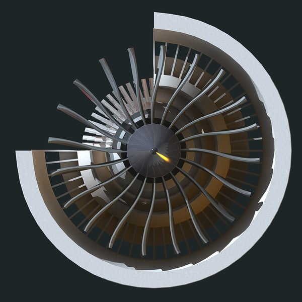3dsmax turbofan engine