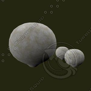 3d model fungus cartoon