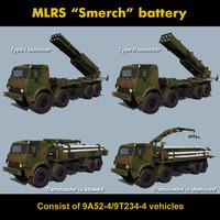 mlrs battery smerch 3d max