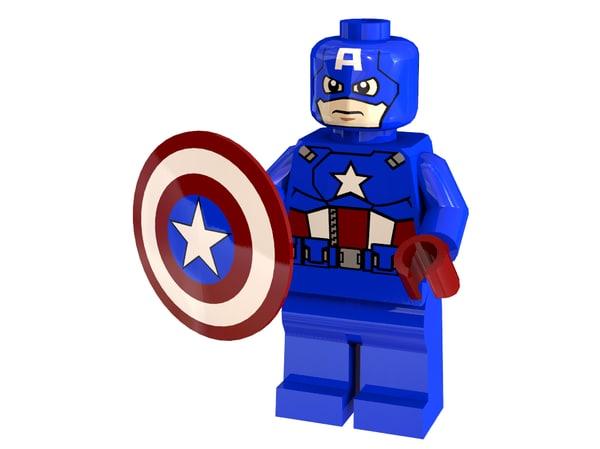 captain america 3d x