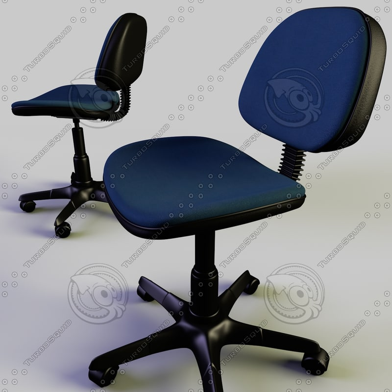 rigged office chair 3d model