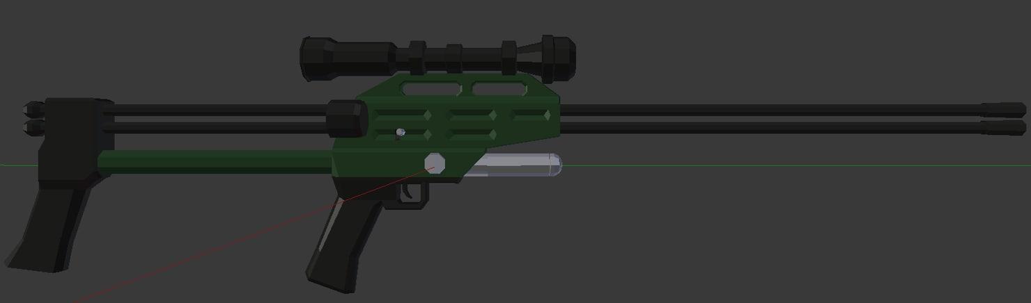 3d dart rifle model