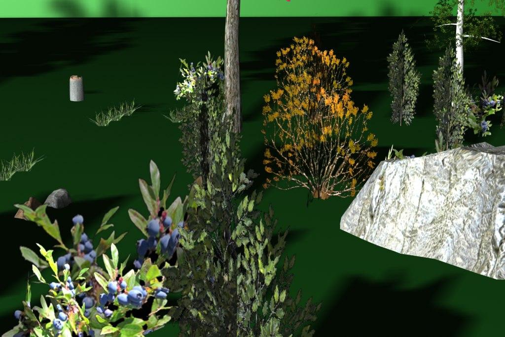 3d model bush pack