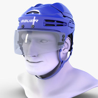 hockey helmet bauer 9900 3d model
