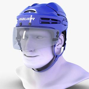 hockey helmet bauer 9900 3d model