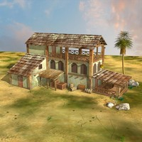 hut, house, old house for 3d  gaming