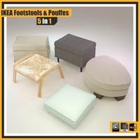free obj model ikea foot:stools pouffes: