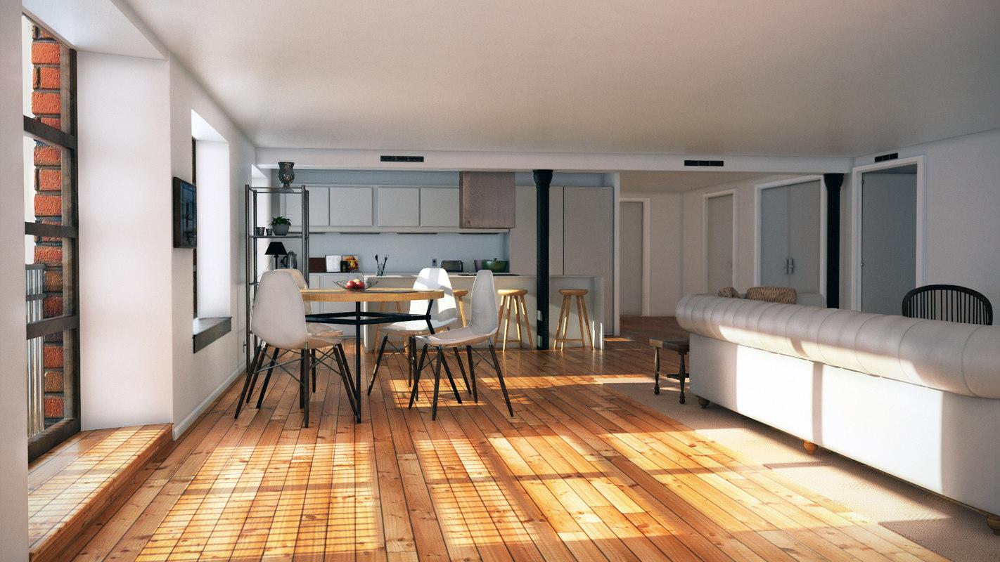 kitchen interior fbx