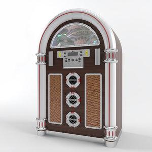 jukebox modelled 3d model