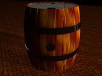 3d wood barel