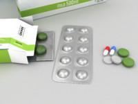 3d model medicines pills