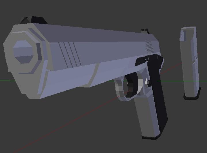 pistol weapon 3d model
