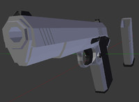 Pistol and Clip (Low Poly)