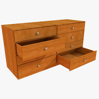 Simple office chest of drawers Big Table prop detail room living (2)
