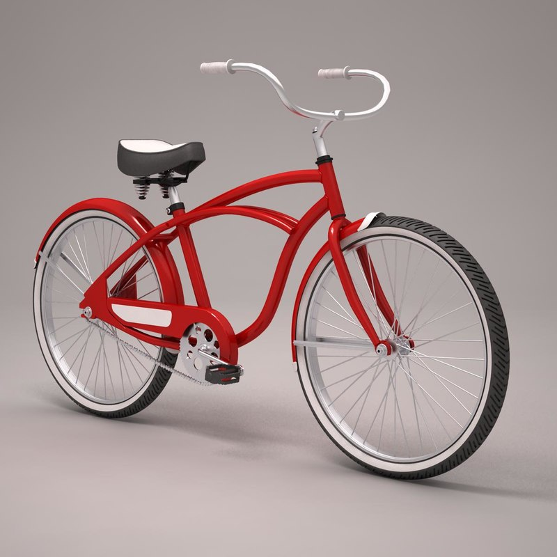 beach bicycle 3d model