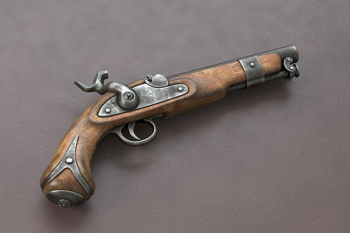 3dsmax pirate pistol