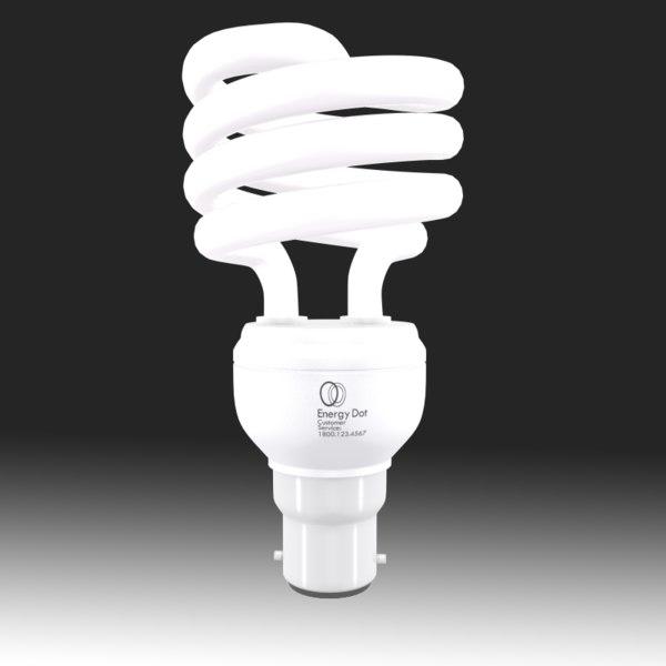 3d model of energy saving light bulb