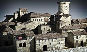 medieval town 3d model
