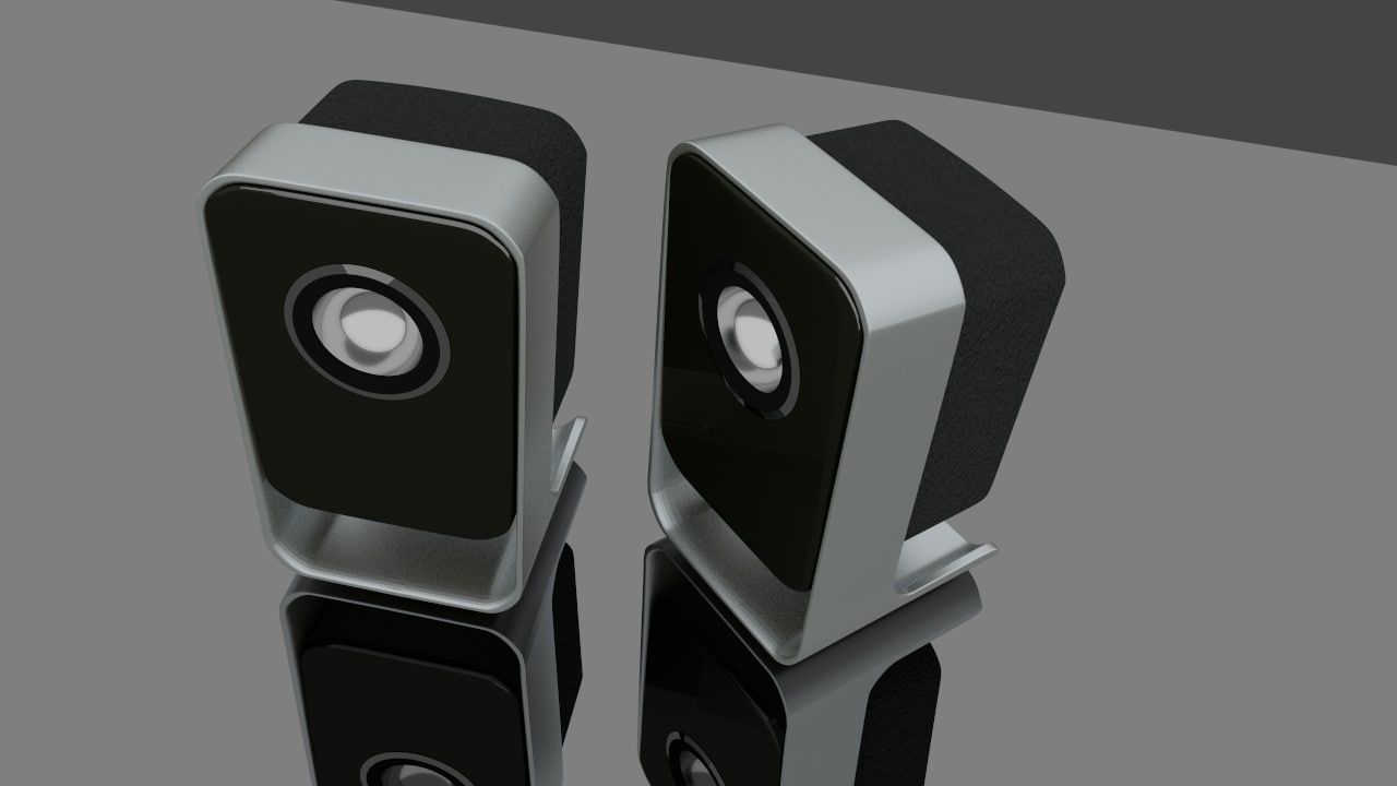 desktop speakers obj