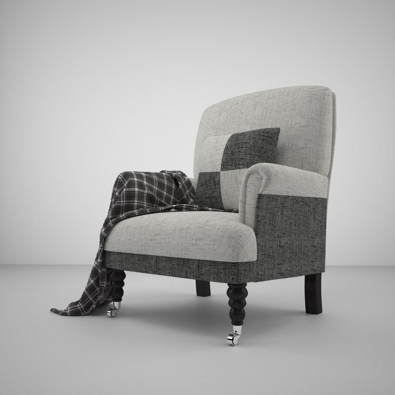 3d armchair blanket