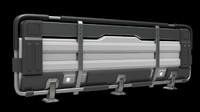 modular railings sci fi 3d model