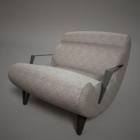 c4d fashion armchair