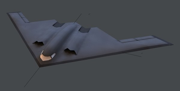 3d model b-2 spirit stealth bomber