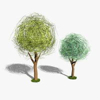 3ds cartoon trees