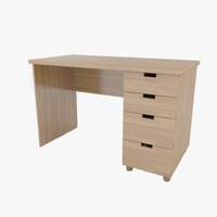 desk bedroom leta 3d model