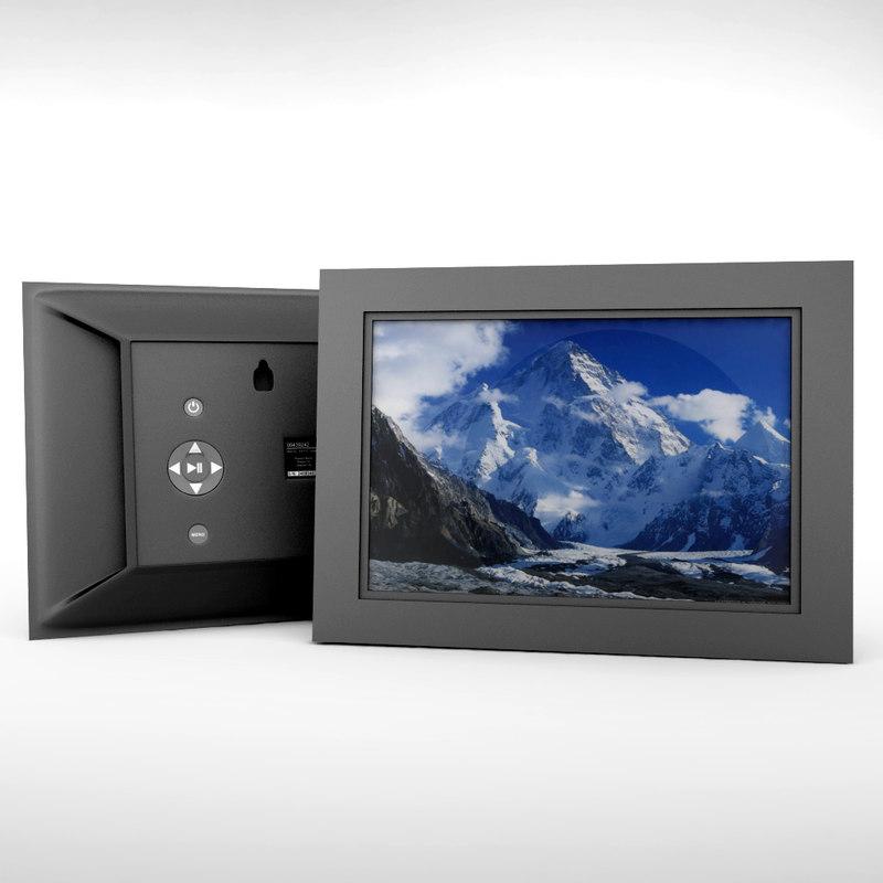 3d model digital picture frame