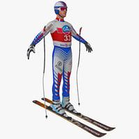 3ds downhill skier