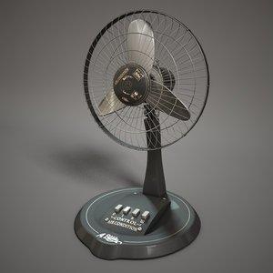 3d model cooling fan