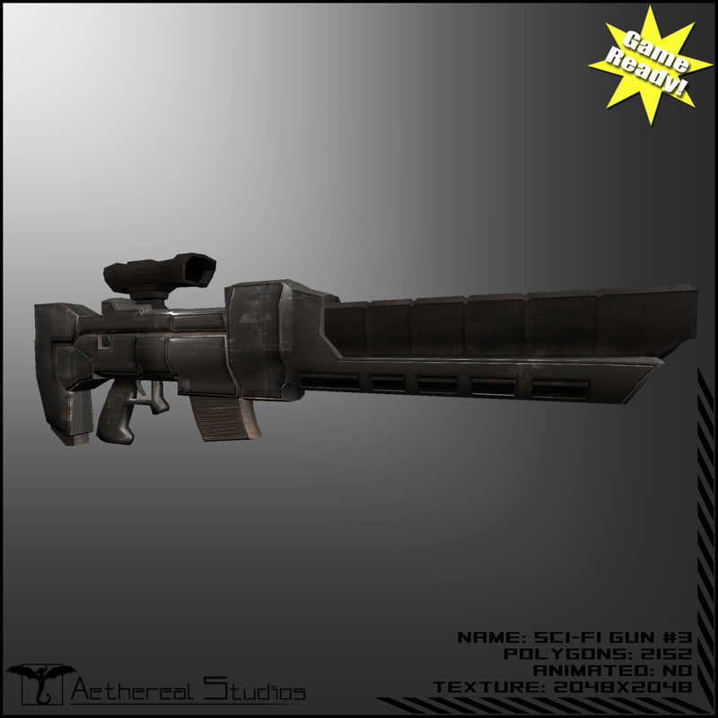 maya sci-fi weapon 3